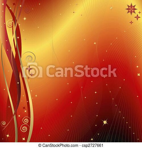 χρυσαφένιος , αριστερός φόντο , (vector), xριστούγεννα  - csp2727661