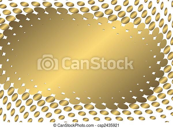 χρυσαφένιος , αφαιρώ , κορνίζα , (vector) - csp2435921