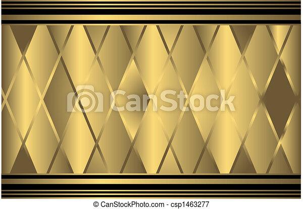 χρυσαφένιος , γεωμετρικός , φόντο  - csp1463277