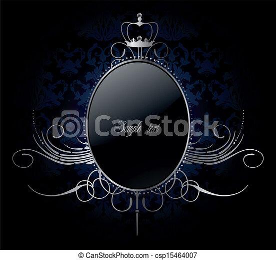 χρυσαφένιος , κορνίζα , μικροβιοφορέας , βασιλικός , φόντο  - csp15464007