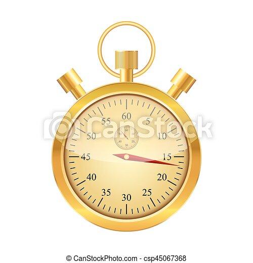 χρυσαφένιος , μικροβιοφορέας , illustration., stopwatch. - csp45067368