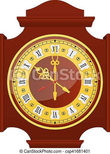 χρυσαφένιος , ρολόι  - csp41681401
