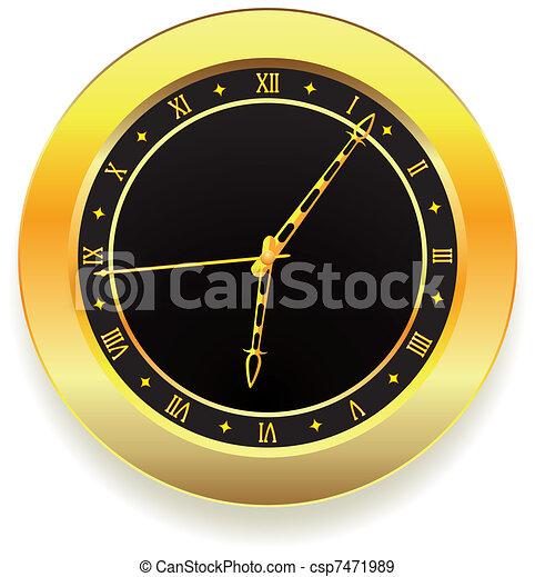 χρυσαφένιος , ρολόι  - csp7471989