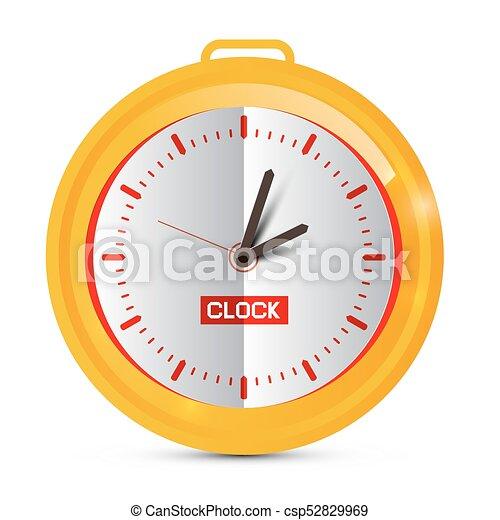 χρυσαφένιος , χαρτί , clock., vector. - csp52829969