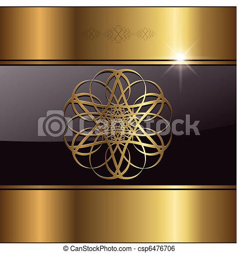 χρυσός , φόντο , αφαιρώ  - csp6476706
