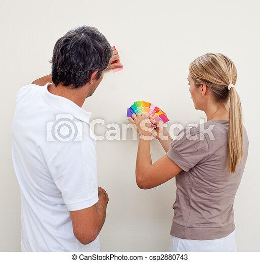 χρώμα , βάφω , ζευγάρι , δωμάτιο , αποφασίζω  - csp2880743