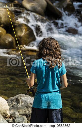 ψάρεμα , καταρράκτης  - csp10583862