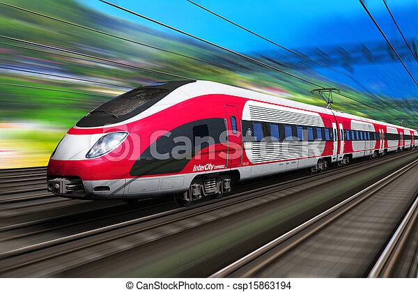 ψηλά , τρένο , ταχύτητα  - csp15863194