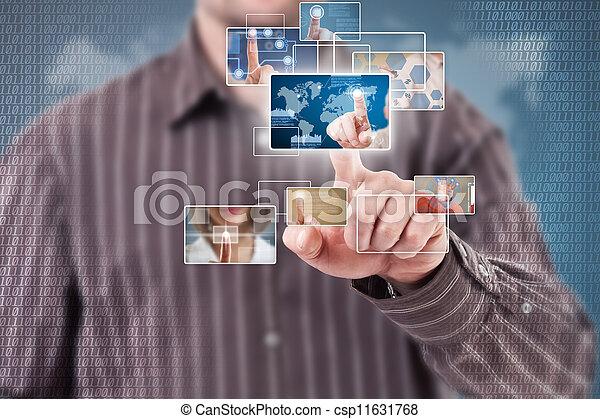ψηφιακός , γενική ιδέα  - csp11631768