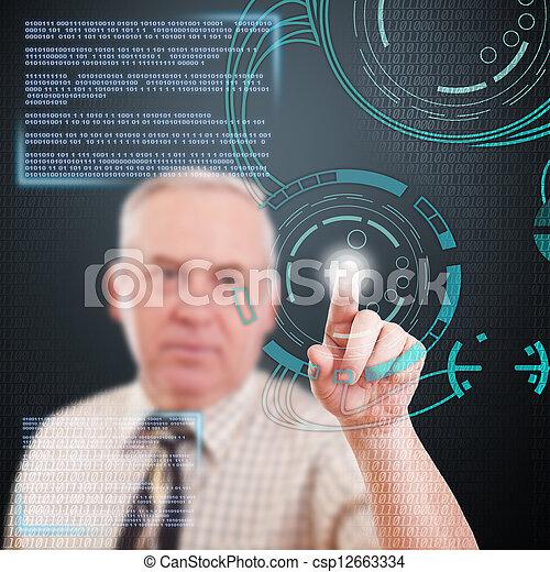 ψηφιακός , γενική ιδέα  - csp12663334