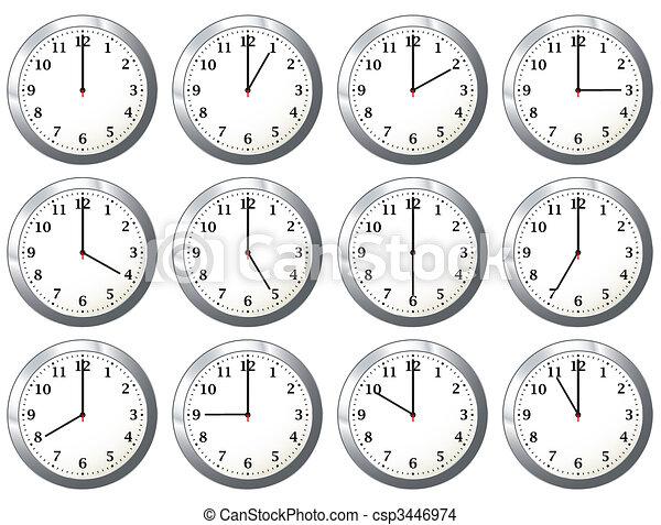 όλα , ρολόι , γραφείο , φορές  - csp3446974