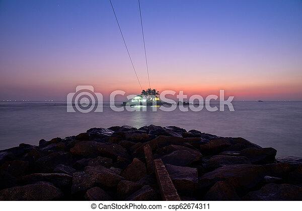 όμορφος , δύση θαλασσογραφία  - csp62674311
