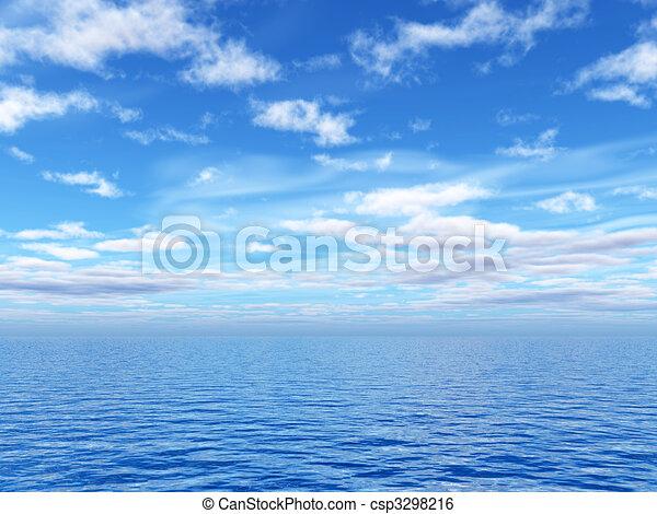 όμορφος , θαλασσογραφία  - csp3298216