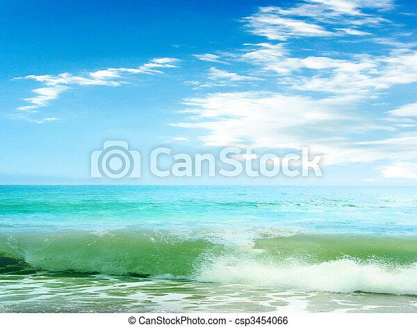 όμορφος , θαλασσογραφία  - csp3454066
