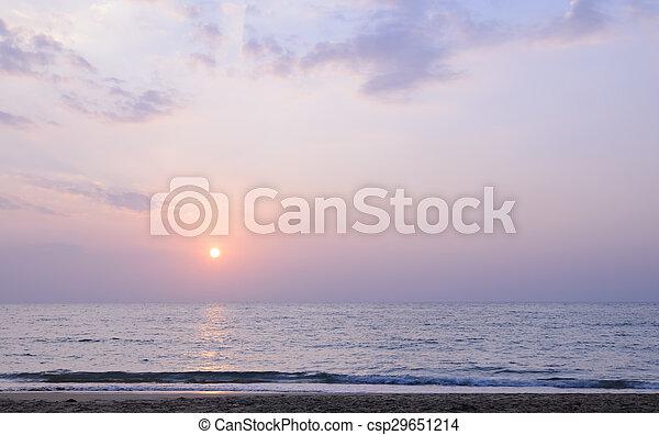 όμορφος , θαλασσογραφία , ηλιοβασίλεμα  - csp29651214