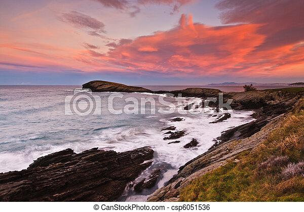 όμορφος , θαλασσογραφία , ηλιοβασίλεμα  - csp6051536