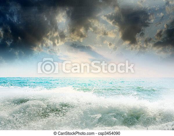 όμορφος , θαλασσογραφία  - csp3454090