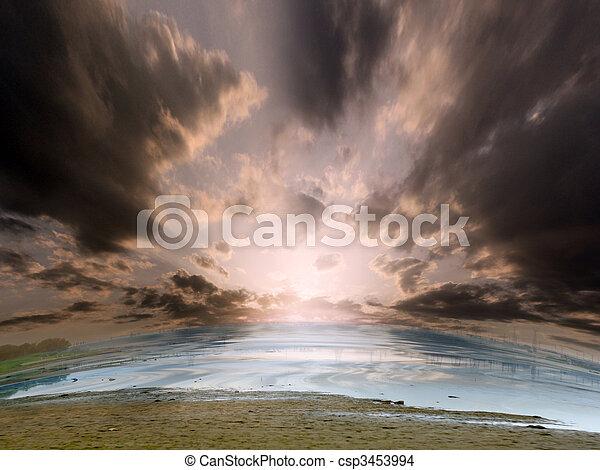 όμορφος , θαλασσογραφία  - csp3453994