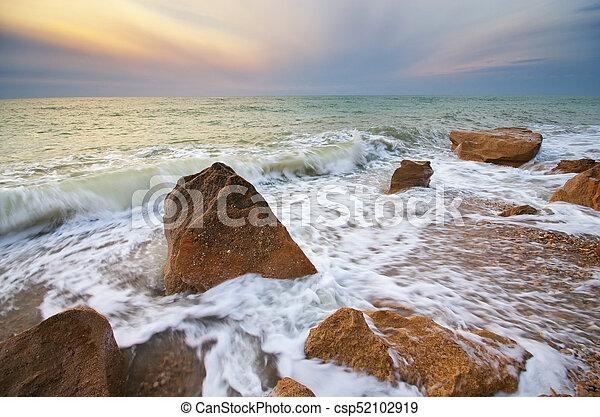 όμορφος , θαλασσογραφία , φύση  - csp52102919