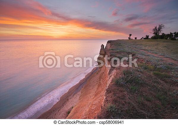 όμορφος , θαλασσογραφία , cliff., φύση  - csp58006941