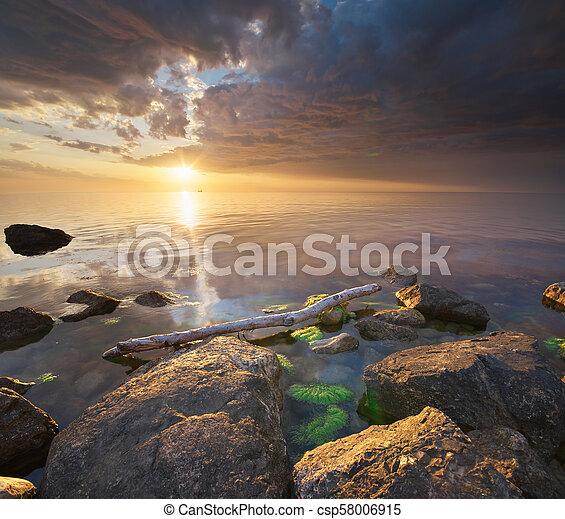 όμορφος , θαλασσογραφία , nature. - csp58006915