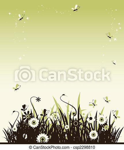 όμορφος , καλοκαίρι , λιβάδι  - csp2298810