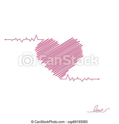 όμορφος , καρδιά , απλό , μοντέρνος , σήμα , healthcare , colors., design., ρυθμός , φόντο. , άσπρο , logo., κόκκινο , διαμέρισμα , pulse., εικόνα , μοναχικός , ιατρικός , cardiogram., μικροβιοφορέας , καρδιοχτύπι , icon., ή  - csp69193083