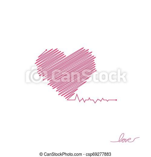 όμορφος , καρδιά , απλό , μοντέρνος , σήμα , healthcare , colors., design., ρυθμός , φόντο. , άσπρο , logo., κόκκινο , διαμέρισμα , pulse., εικόνα , μοναχικός , ιατρικός , cardiogram., μικροβιοφορέας , καρδιοχτύπι , icon., ή  - csp69277883