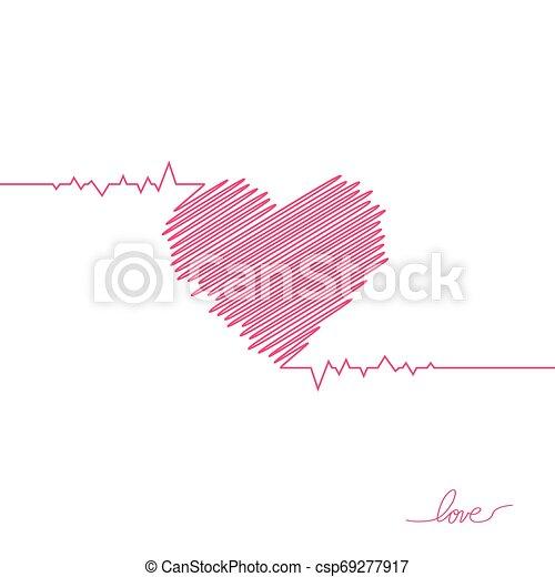 όμορφος , καρδιά , απλό , μοντέρνος , σήμα , healthcare , colors., design., ρυθμός , φόντο. , άσπρο , logo., κόκκινο , διαμέρισμα , pulse., εικόνα , μοναχικός , ιατρικός , cardiogram., μικροβιοφορέας , καρδιοχτύπι , icon., ή  - csp69277917