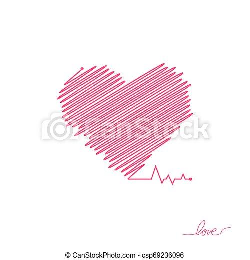 όμορφος , καρδιά , απλό , μοντέρνος , σήμα , healthcare , colors., design., ρυθμός , φόντο. , άσπρο , logo., κόκκινο , διαμέρισμα , pulse., εικόνα , μοναχικός , ιατρικός , cardiogram., μικροβιοφορέας , καρδιοχτύπι , icon., ή  - csp69236096