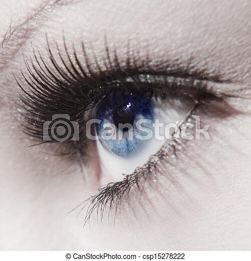 όμορφος , κλείνω , γυναίκα άποψη , πάνω  - csp15278222
