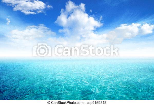 όμορφος , μπλε , θαλασσογραφία , ουρανόs , φόντο , σύνεφο  - csp9159848