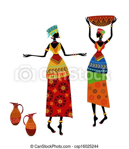 όμορφος , παραδοσιακός , γυναίκα , κοστούμι , αφρικανός  - csp16025244
