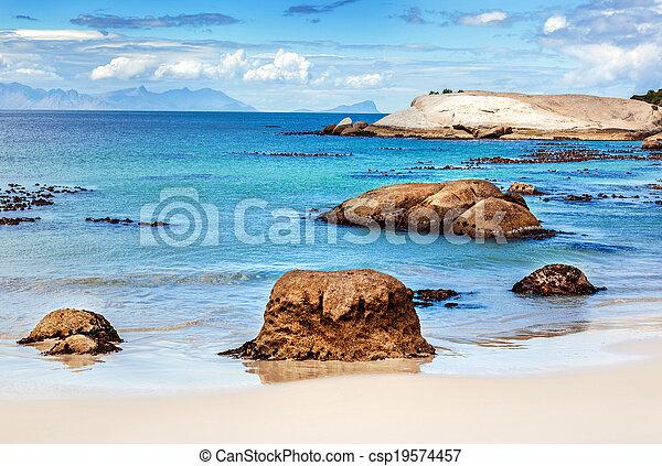 όμορφος , παραλία , τοπίο  - csp19574457