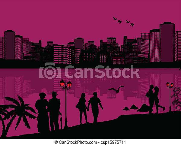 όμορφος , cityscape , φόντο  - csp15975711