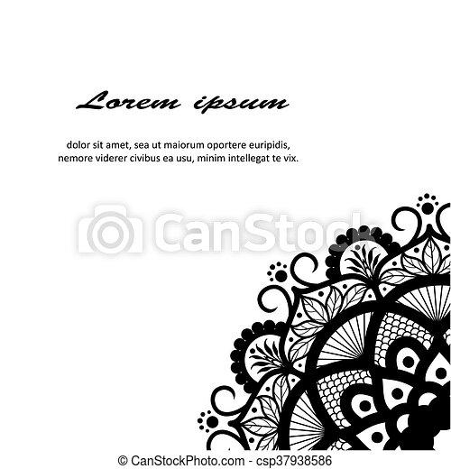 όμορφος , deco , mandala , μικροβιοφορέας  - csp37938586