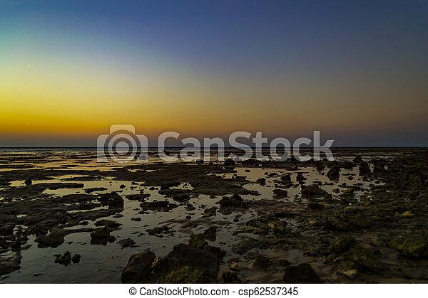 όμορφος , seascape., αίγυπτος , τροπικός , ηλιοβασίλεμα , sea., κόκκινο  - csp62537345