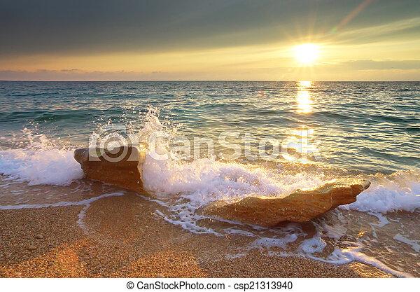 όμορφος , seascape. - csp21313940