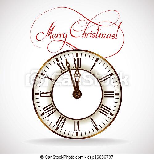 ώρα , xριστούγεννα , ρολόι  - csp16686707