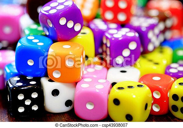 азартные игры, игральная кость, свая, шанс, games, игорный, playing - csp43938007