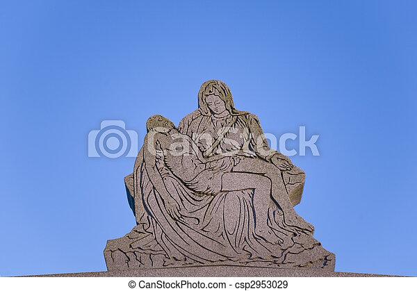 ангел, держа, иисус - csp2953029