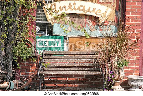 античный, магазин, скамейка - csp0822568