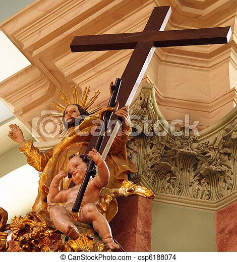барокко, христос, ангел, пересекать - csp6188074