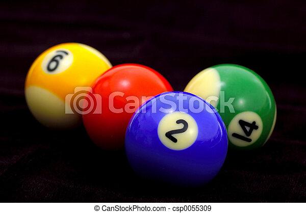 бильярдный, мячи - csp0055309