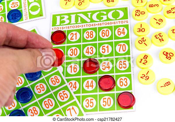 бинго, быть, последний, чип, победитель, рука, игра, сдачи - csp21782427
