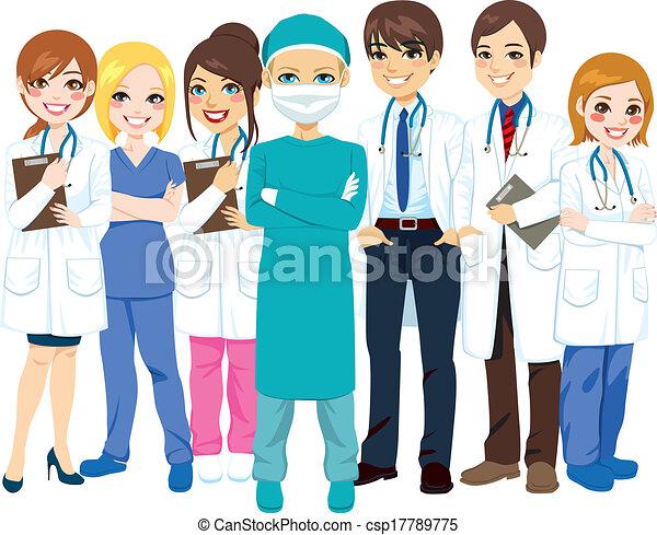 больница, медицинская, команда - csp17789775