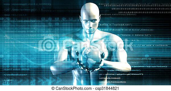 будущее, технологии - csp31844821