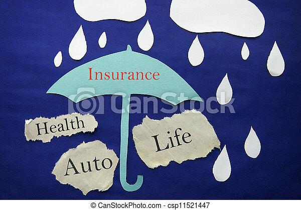 бумага, страхование - csp11521447