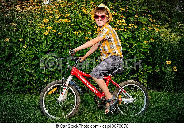 велосипед, дитя - csp40070076