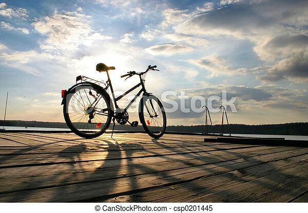 #, велосипед, конец, поездка - csp0201445
